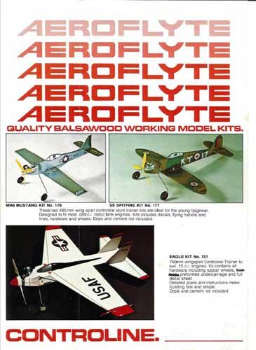 AeroFlyte: Quality Balsawood Working Model Kits (RCL#1057)