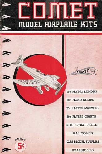 Comet Model Airplane Kits 1938 (RCL#1073)