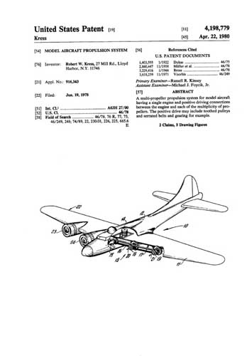 Patent: Model Aircraft Propulsion System  - click to view RCLibrary page