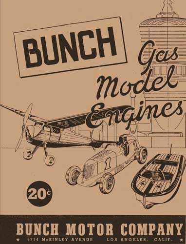 Bunch Gas Model Engines Catalogue (RCL#1171)
