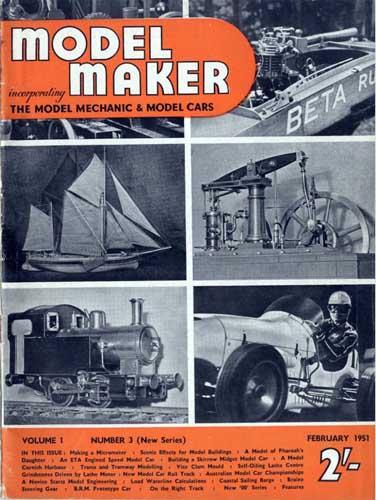 Model Maker 1951/02 February - cover thumbnail