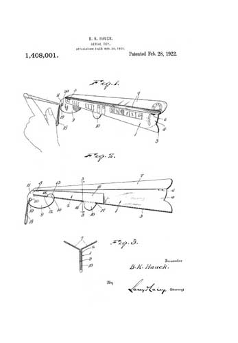 Patent: Aerial Toy  - click to view RCLibrary page