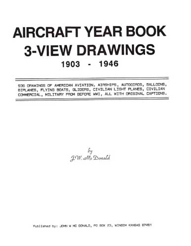 Aircraft Year Book, 3-View Drawings 1903-1946