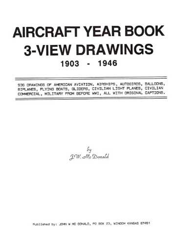 Aircraft Year Book, 3-View Drawings 1903-1946 (RCL#1372)