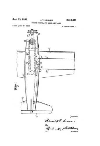 Patent: Engine Control for Model Airplanes  - click to view RCLibrary page