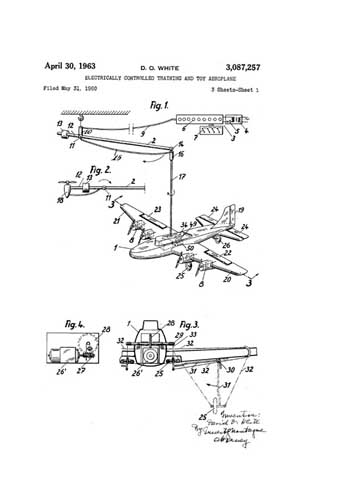 Patent: Electrically Controlled Training and Toy Aeroplane  - click to view RCLibrary page