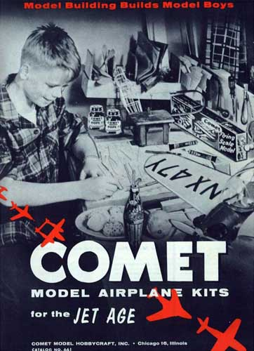 Comet Model Airplane Kits 1955 - cover thumbnail
