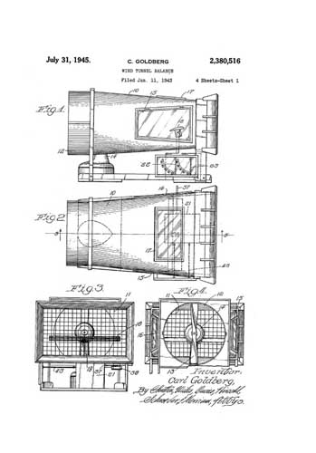 Patent: Wind Tunnel Balance  - click to view RCLibrary page