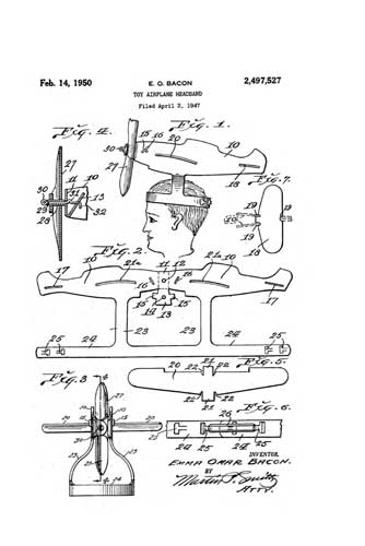 Patent: Toy Airplane Headband - cover thumbnail