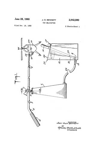 Patent: Toy Helicopter  - click to view RCLibrary page