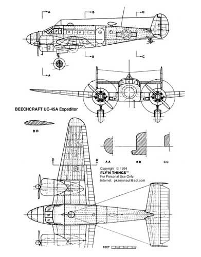 WWII Allied and Axis Aircraft Scale Drawings (RCL#1496)