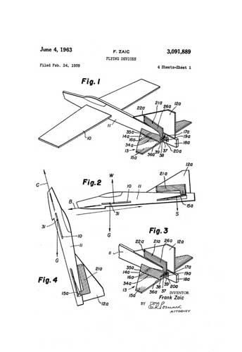 Patent: Flying Devices [Zaic]  - click to view RCLibrary page