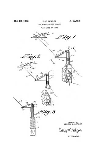 Patent: Toy Plane Control Device - cover thumbnail
