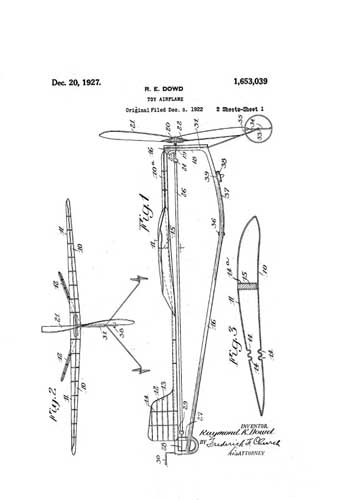 Patent: Toy Airplane - cover thumbnail