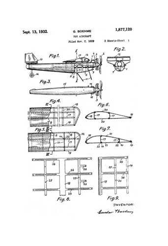 Patent: Toy Aircraft - cover thumbnail