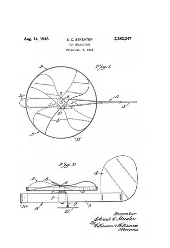 Patent: Toy Helicopter