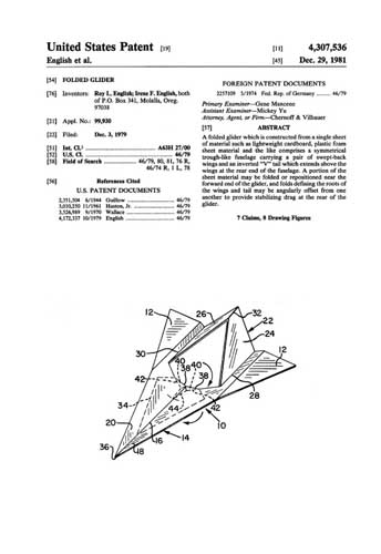 Patent: Folded Glider