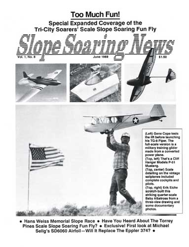 Slope Soaring News 1989/06 June  - click to view RCLibrary page