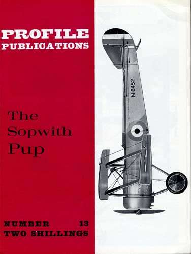 Profile Publications No. 013: Sopwith Pup - cover thumbnail