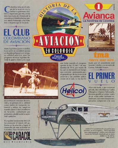 Historia de la Aviacion en Colombia: Avianca  - click to view RCLibrary page