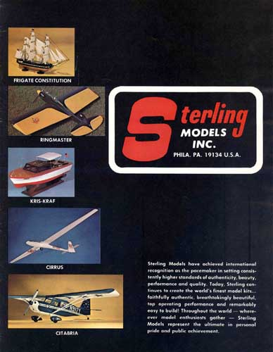 Sterling Models Catalogue  - click to view RCLibrary page