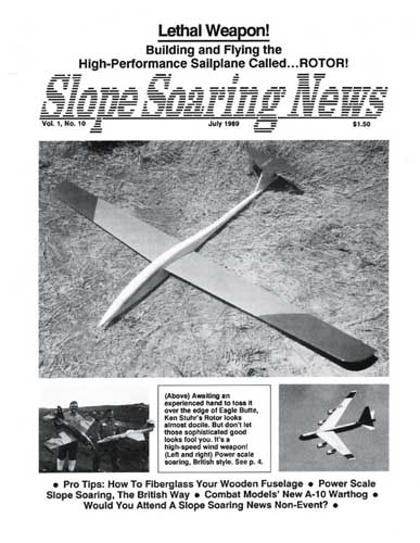 Slope Soaring News 1989/07 July