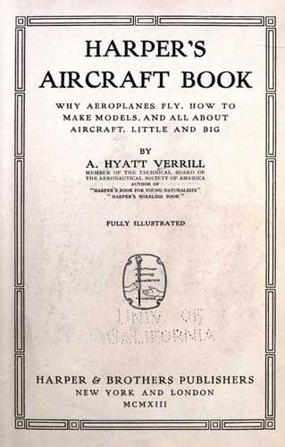 Harper's Aircraft Book (RCL#1726)