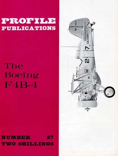 Profile Publications No. 027: Boeing F4B-4 - cover thumbnail