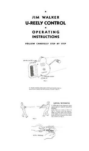 Jim Walker U-Reely Control: Operating Instructions