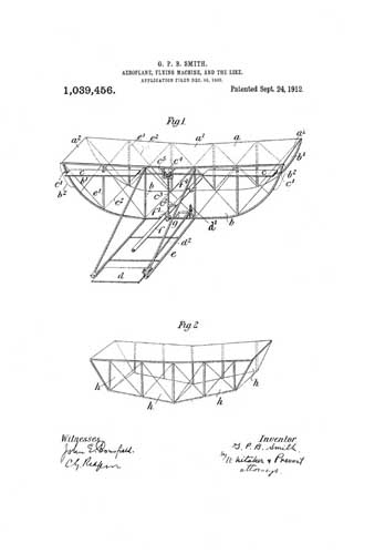Patent: Aeroplane, Flying Machine, And The Like - click to view RCLibrary page