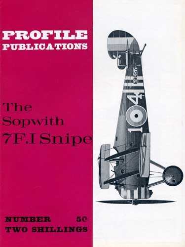 Profile Publications No. 050: Sopwith 7F.I Snipe - click to view RCLibrary page