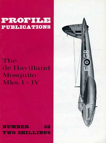 Profile Publications No. 052: de Havilland Mosquito Mks. I-IV (RCL#1954)