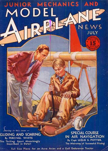 Model Airplane News 1930/07 July - cover thumbnail