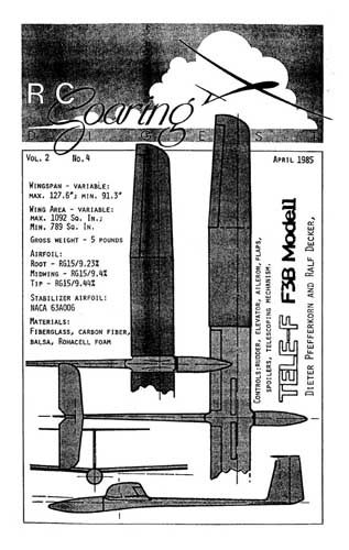RC Soaring Digest 1985/04 April (RCL#2125)