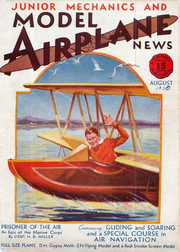 Model Airplane News 1930/08 August - cover thumbnail