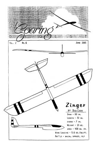 RC Soaring Digest 1985/06 June - cover thumbnail