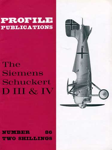 Profile Publications No. 086: Siemens Schuckert D III & IV - cover thumbnail