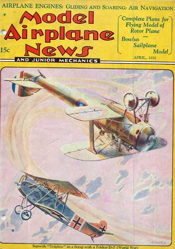 Model Airplane News 1931/04 April - click to view RCLibrary page