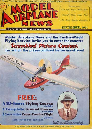 Model Airplane News 1931/09 September - click to view RCLibrary page