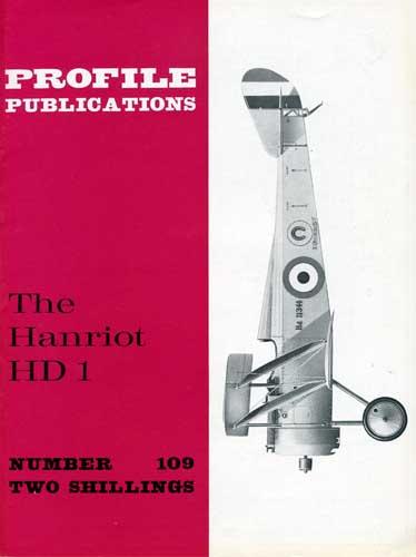 Profile Publications No. 109: Hanriot HD 1 (RCL#2343)