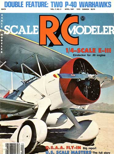 Scale R/C Modeler 1981/04 April - cover thumbnail