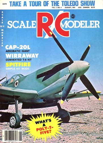 Scale R/C Modeler 1981/08 August - cover thumbnail