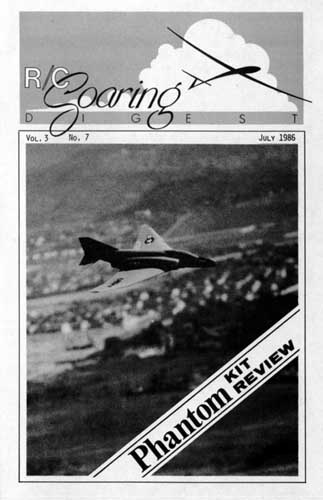 RC Soaring Digest 1986/07 July - click to view RCLibrary page