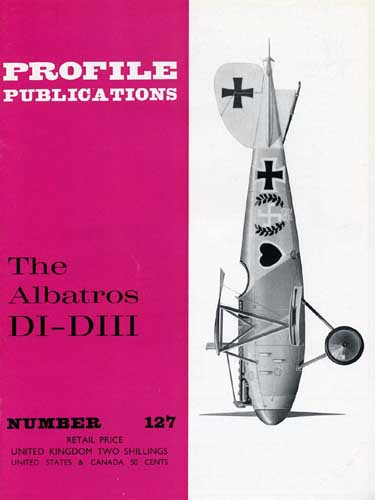 Profile Publications No. 127: Albatros DI-DIII - click to view RCLibrary page