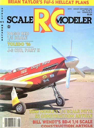 Scale R/C Modeler 1986/08 August/ September - cover thumbnail