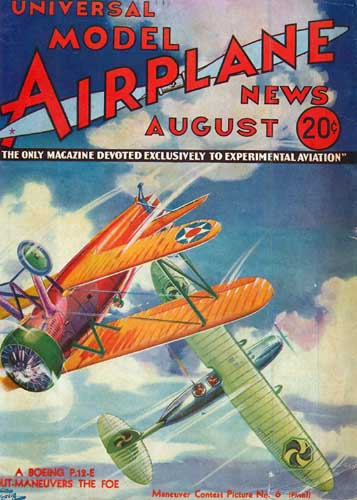 Model Airplane News 1933/08 August (RCL#2460)