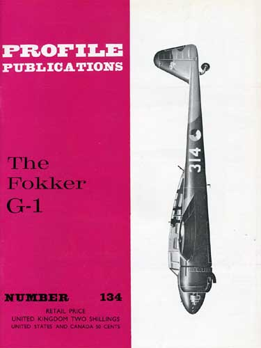 Profile Publications No. 134: Fokker G-1 - cover thumbnail