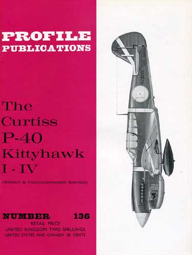 Profile Publications No. 136: Curtiss P-40 Kittyhawk I-IV (British & Commonwealth Service) (RCL#2525)