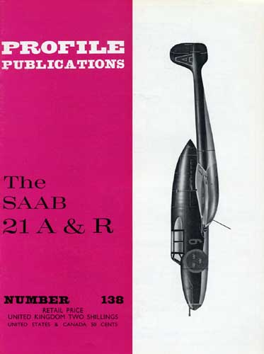 Profile Publications No. 138: SAAB 21 A & R - cover thumbnail