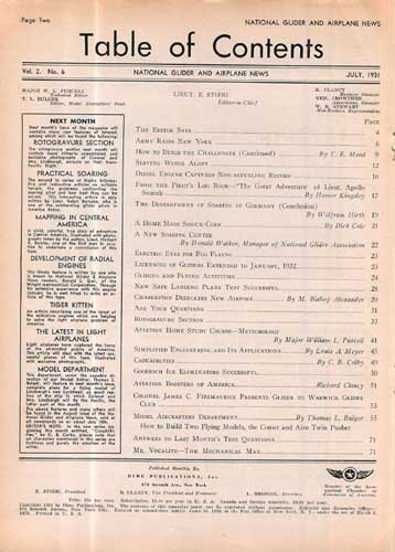 National Glider & Airplane News 1931/07 July (RCL#2572)